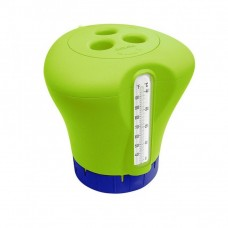 Дозатор для бассейна плавающий с термометром K619BU green 2 в 1