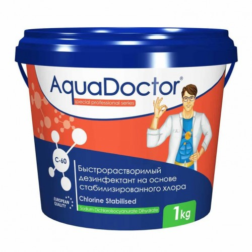 AquaDoctor С-60Т хлор-шок в табл. 1кг.