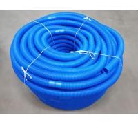 Шланг гофрированный синий D38. шаг 1.5м